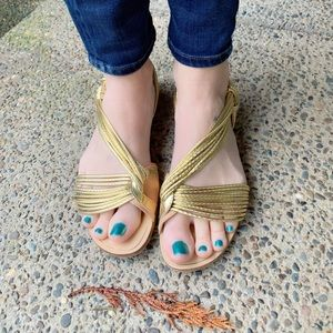 Fab, ZARA BASIC, golden sandals!!